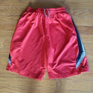 Red Black Silver Nike Dri Fit Basketball Shorts